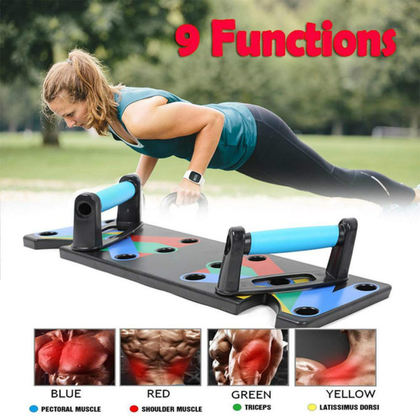 Push-Up Rack 9 in 1 Fitness Exercise Tool, Home Gym For Men & Women