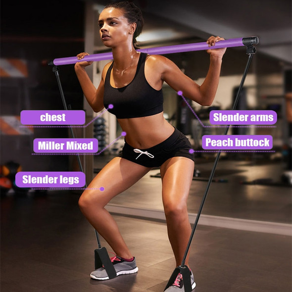 Multi-use Adjustable Exercise Stick With Resistance Bands