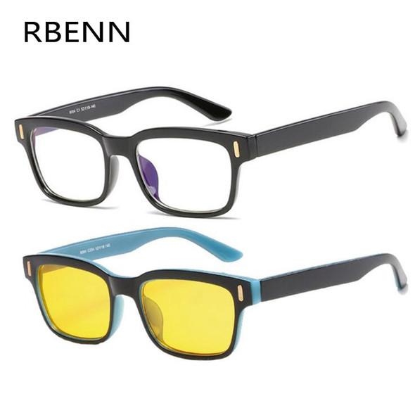 Anti Blue Rays Computer Glasses Men Women Blue Light Blocking Gaming Glasses Anti-fatigue Eyewear With Yellow Lense