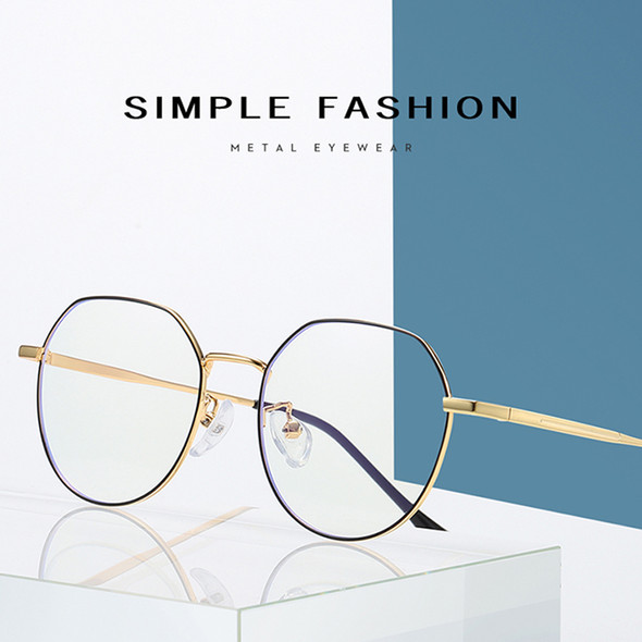 Blue Light Blocking Glasses Metal Square Glasses for Computer Men Women Anti Blue Eyeglasses