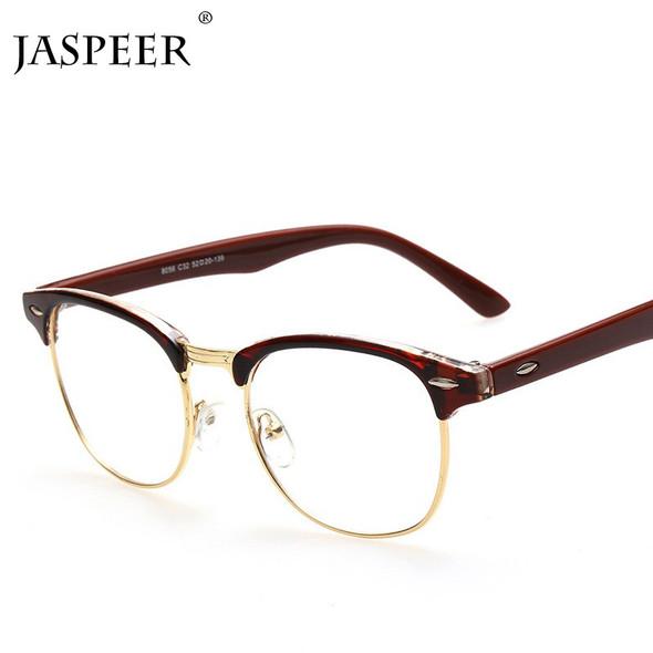 JASPEER New Anti Blue Light Blocking Glasses Retro Glasses Frame Men And Women Square Computer Goggles Eye Protection Eyewear