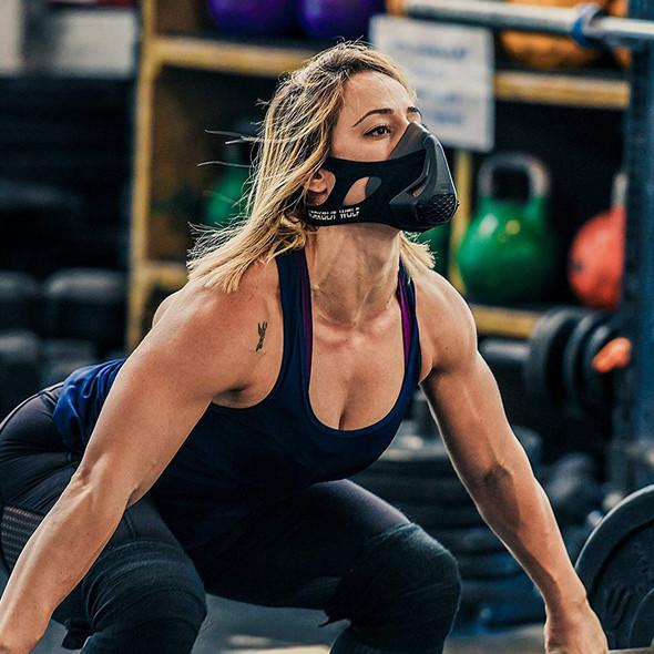 24 Breathing Resistance Levels Endurance Fitness Training Mask High Altitude Simulation  Exercise Breathing Muscle Strength