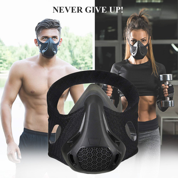 Sports Running Mask Training Fitness Gym Workout Cycling Elevation Conditioning Altitude Training