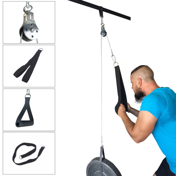 Fitness Pulley Cable Machine Attachment System