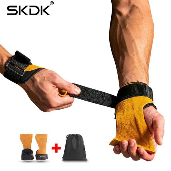 SKDK Weight Lifting Grip Gym Crossfit Trainining Fitnes Gear Hand Grips Gymnastics Gloves Grips Anti-Skid Gym Fitness Gloves