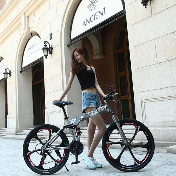 mountain bike 26-inch steel 21-speed bicycles dual disc brakes variable speed road bikes racing bicycle