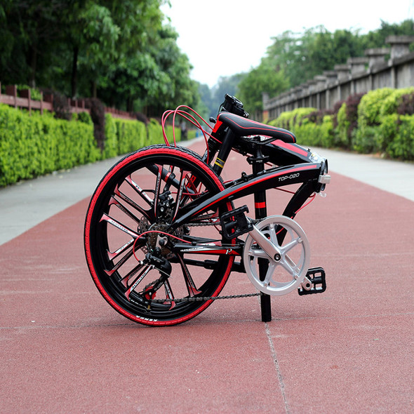 """New 20"""" Mini Folding Bike Quick Release Folding Bicycle Mechanical Disc Brake Folding City Cycling With Integrated Rim"""