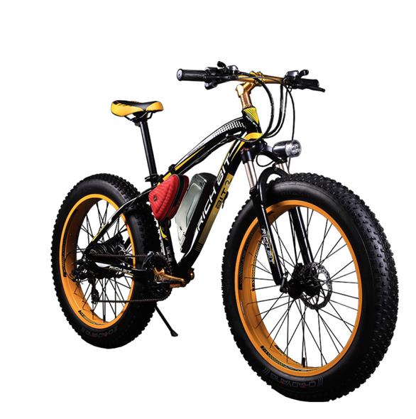 Electric Bike Powerful Fat Tire Electric Mountain Bike 48V 17AH 1000W eBike Beach Cruiser 21 Speed Electric Snow Bicycle