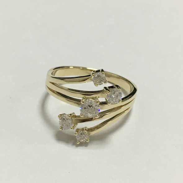 18K White Gold (AU750) Women Wedding Ring 0.521ct Certified I-J/SI1 Fine Jewelry Real Diamond Engagement Ring Fashion Design