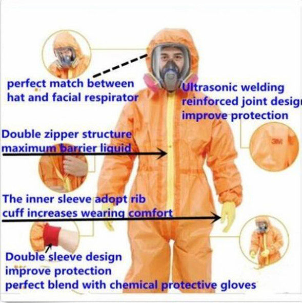 Protective Coverall Chemical Liquid Nuclear Particulates Radiation Protection Suit