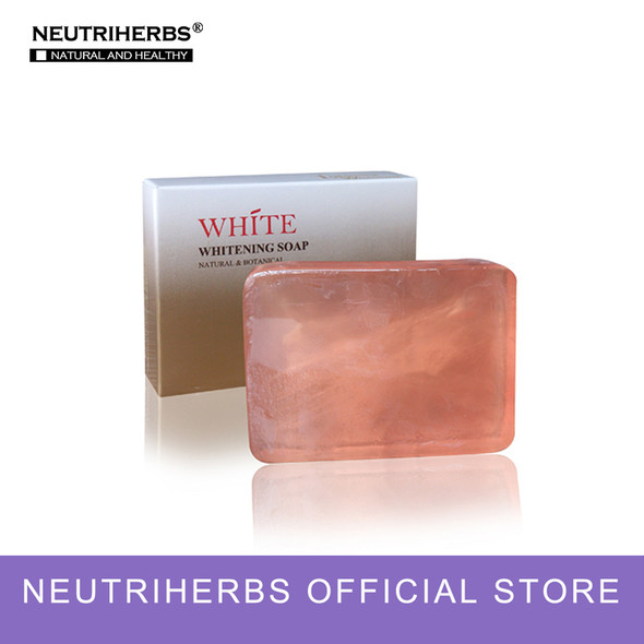Herbal Essential Oil White Face Soap Reduces Dark Spot Facial Gift Soap for Moisturizing and Bright 100g