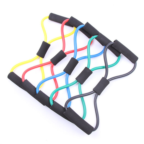 New Women Gym Crossfit Elastic Fitness Resistance Band Expander Workout Exercise Pilates Yoga Stretch Tube Rope Sport Equipment