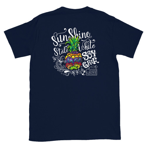 Navy White Sangria Short-Sleeve Unisex T-Shirt