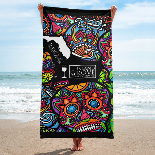Island Grove Wine Company Beach Towel