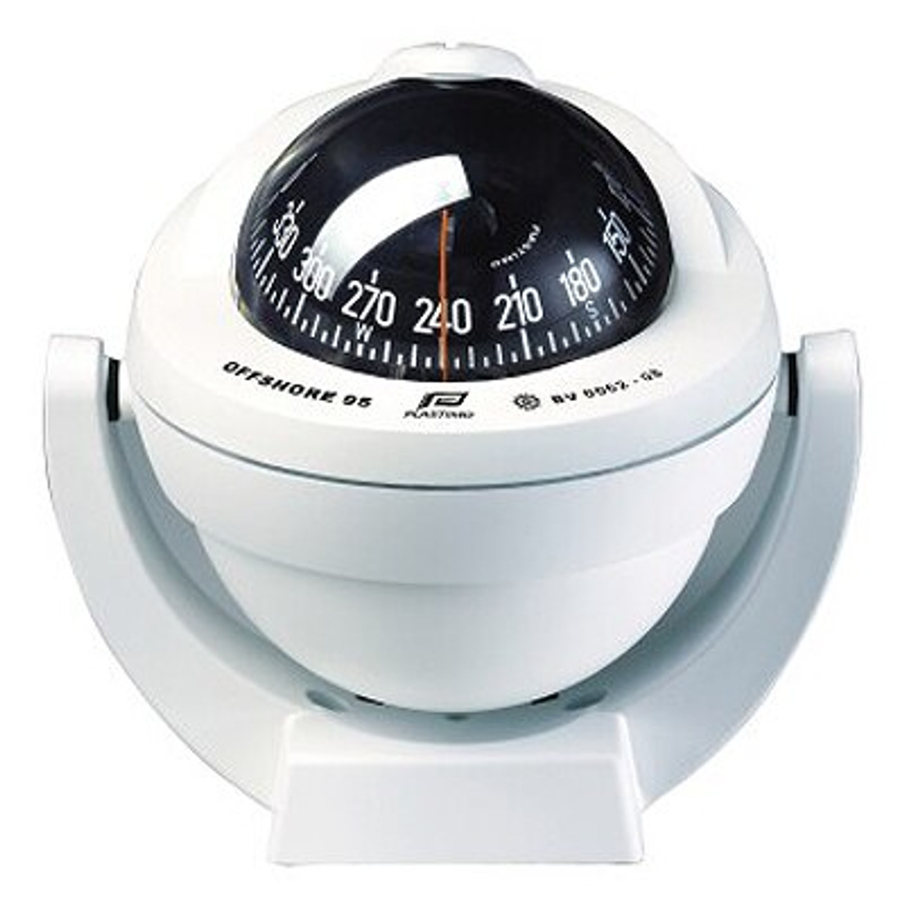BOAT//YACHT /& 12V LIGHTING PLASTIMO OFFSHORE 95 WHITE FLUSH MOUNT MARINE COMPASS
