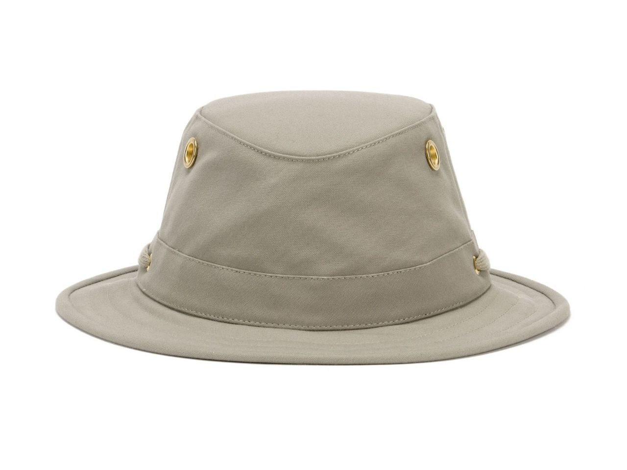 094778539 Tilley T5 Cotton Duck Hat - Khaki with Olive Underbrim
