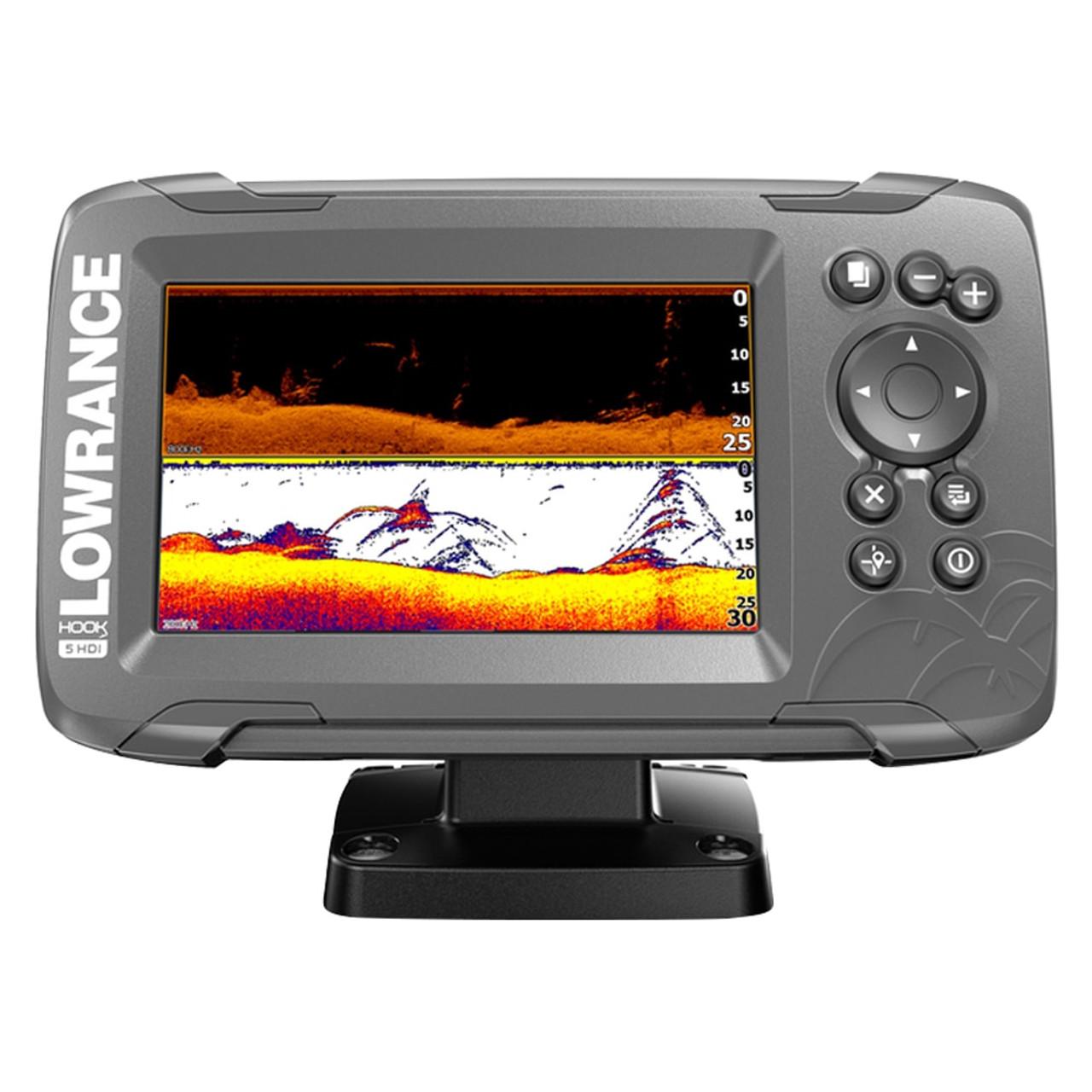 Lowrance Hook 2 4X Depth Sounder Fish Finder /& Transducer