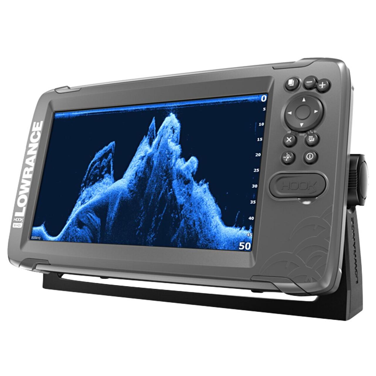 Lowrance HOOK2 9 Fishfinder with SplitShot Transducer & Coastal Maps
