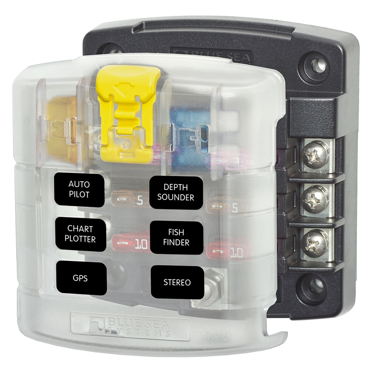 Blue Sea ST Blade Fuse Block with Cover   40 Circuit