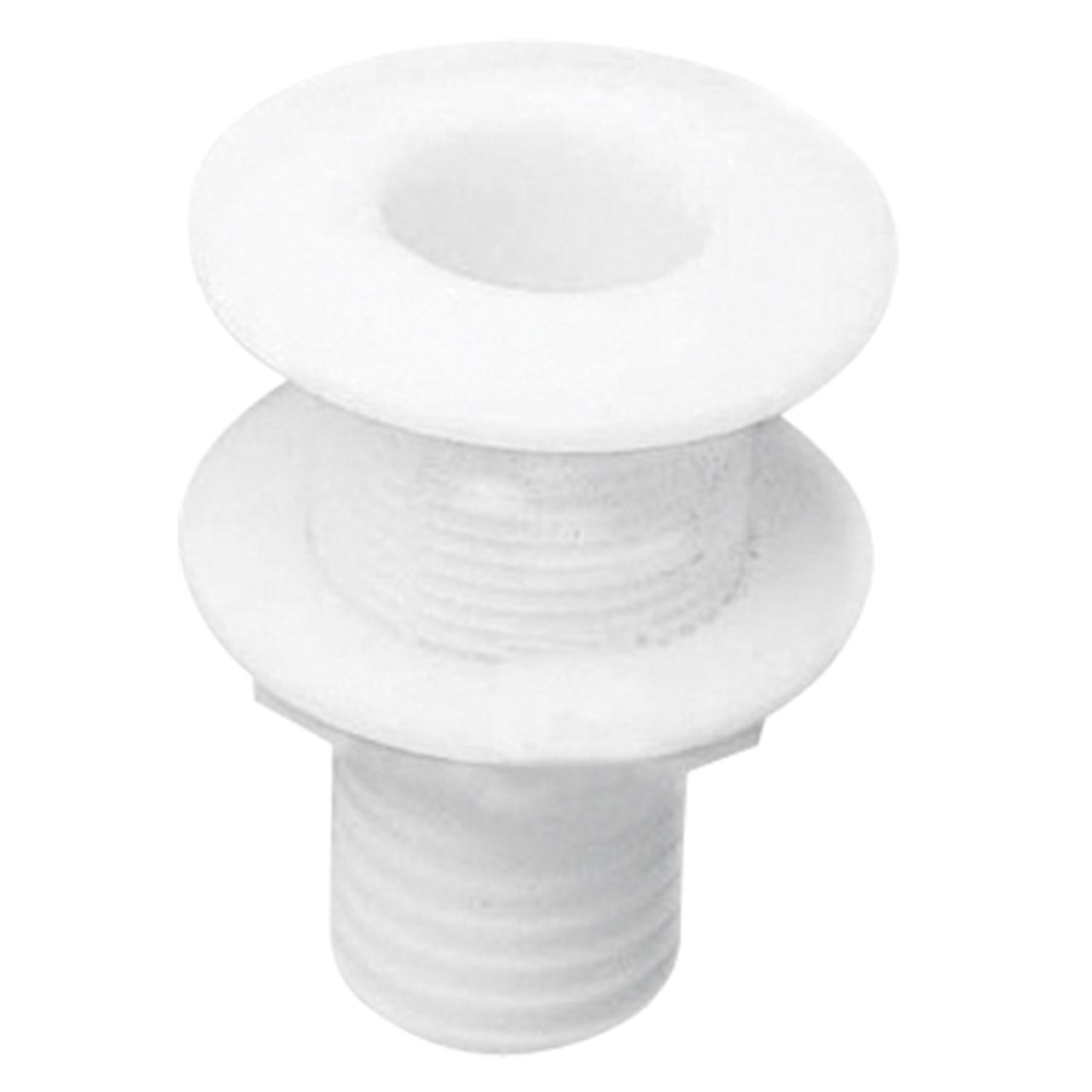 White Nylon Plastic Skin Fitting with Hosetail Sizes Available