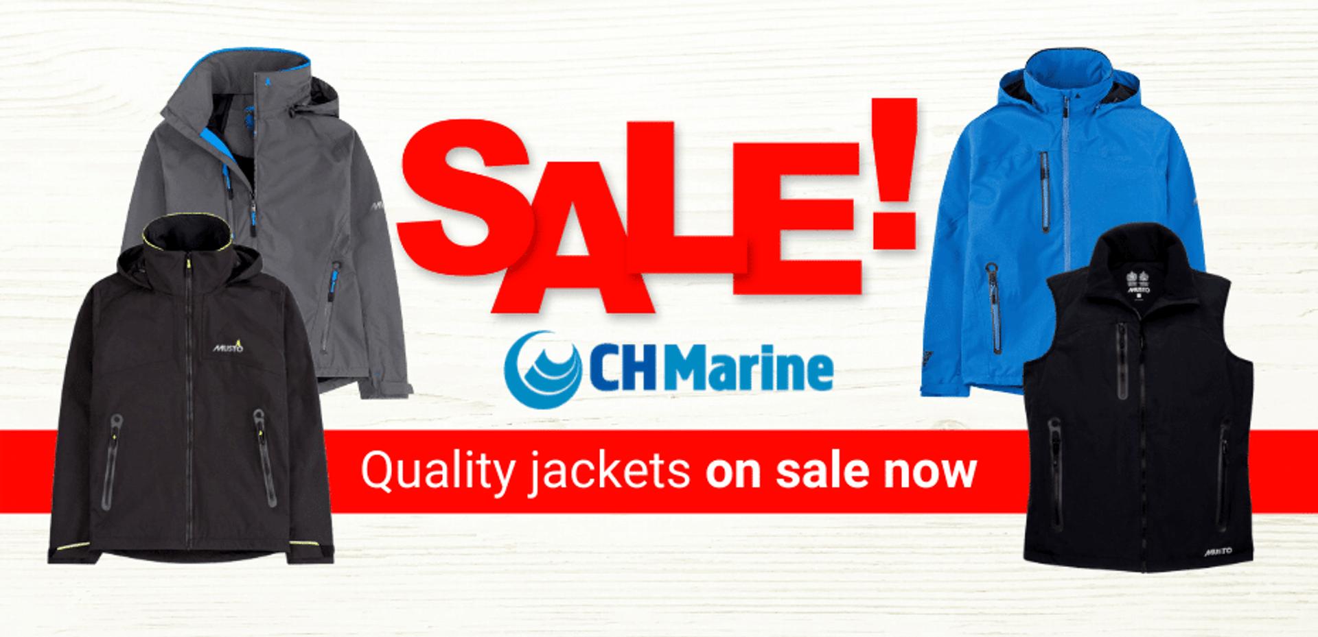 Sailing jacket sale