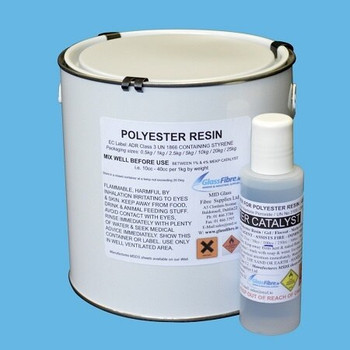 Glassfibre Polyester Clear Resin 5Kg + 100cc Catalyst