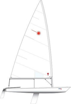 Laser Standard Dinghy with XD Rig & Composite Upper