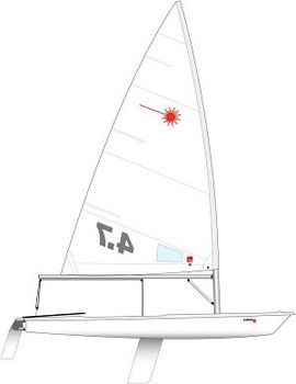 Laser 4.7 Dinghy incl. Race Rig