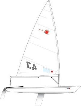 Laser 4.7 Dinghy incl. Race Rig