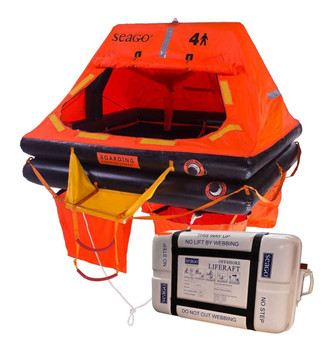 Seago Sea Master Container 10 Man Liferaft > 24hrs ISO9650-1
