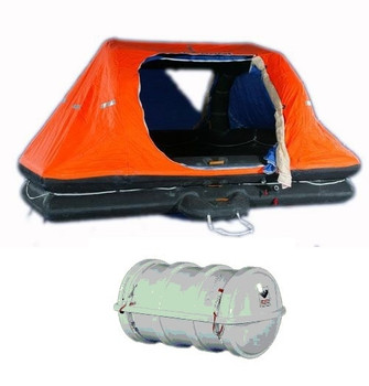 Viking SOLAS Throw Overboard DKS Liferaft Self Righting 25 Person Pack B