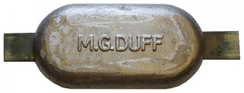 MG Duff Weld On Hull Anode MD80 - Magnesium