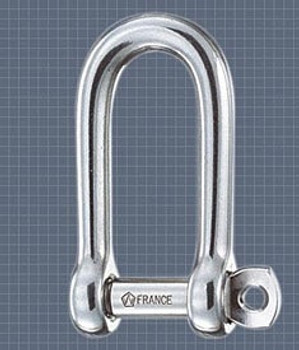 Wichard Long D Shackle with Captive Pin 5mm
