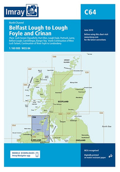 Imray C64 North Channel - Belfast Lough to Lough Foyle and Crinan Chart