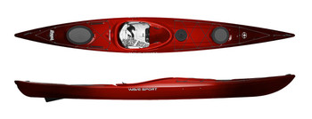 Wavesport Hydra Touring Kayak - Cherry Bomb
