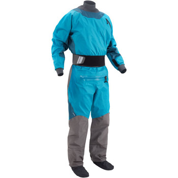 NRS Men's Pivot Drysuit, Front Right, Fjord