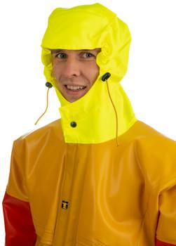 Guy Cotten Isomax Jacket Yellow Orange Hood