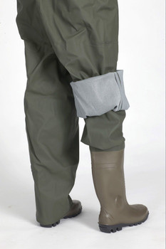 Guy Cotten  Ostrea Chest Waders - Showing over trousers