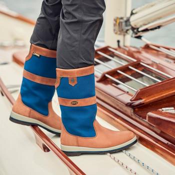 Dubarry Shamrock sailing boots - on deck