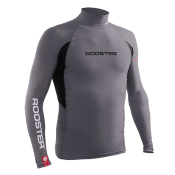 Rooster junior long sleeved rash vest -  graphite