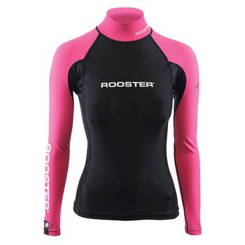 Rooster Womens Rash Vest Black/Pink