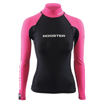Rooster Womens Rash Vest Black/Pink