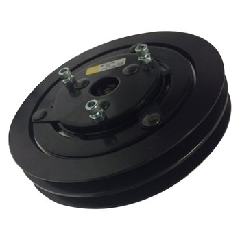 Jabsco Magnetic Clutch Pump Double Pulley Assembly - 2A Groove - Side View