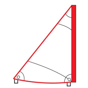 Optiparts Optimist Tri Sail - White