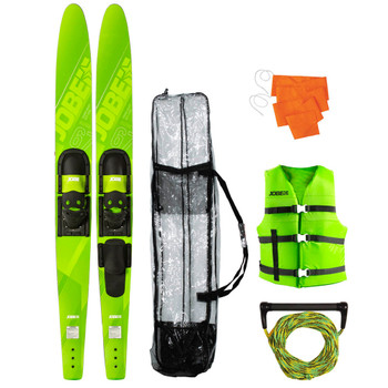 "Jobe Allegre Combo Waterskis Package 67"" in lime green"