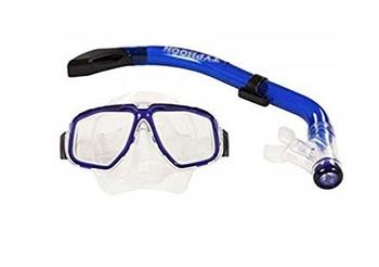 Typhoon Kids/Ladies Diving Mask and Snorkel Blue
