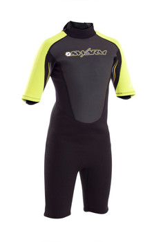 Typhoon Swarm Childs Shorty Wetsuit Yellow