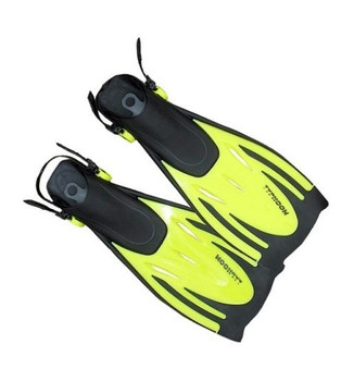 Typhoon T-Jet Kids Adustable Diving Fins Yellow