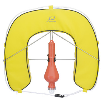 Plastimo Horseshoe Buoy Set with Removable Cover - Yellow