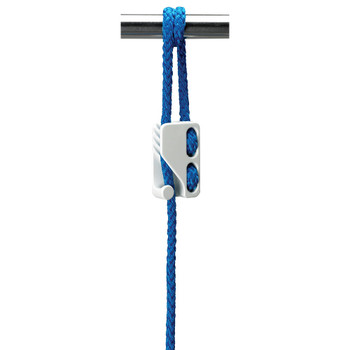 Plastimo Fender/Large Loop Cleat - White - Blue rope cutout view